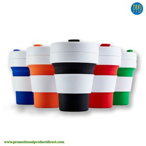 promotional product collapsible folding silicone coffee cup
