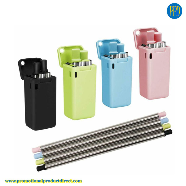 folding reusable collapsible drinking straw