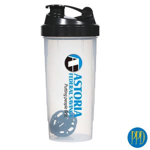 What is a shaker cup? The shaker cup also known as a blender bottle is a hand held mixing bottle used to create protein shakes, blended juice drinks and fitness shakes. Here is how it works.